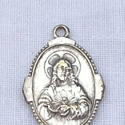 Rare Jesus And His Sacred Heart  Medal Pendant