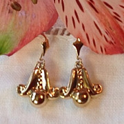 Dainty Victorian Gold Filled Dangle Earrings