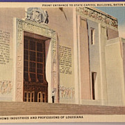 Vintage Louisiana State Capital Building Baton Rouge Post Card