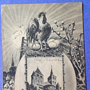 1919 Soldiers Mail Easter Greetings Post Card