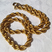 Vintage Gold Filled Twisted Link Necklace
