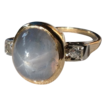 Vintage 14K Diamond Star Sapphire 6 Point Ring