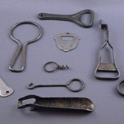 Vintage Collection of 9 Bottle Openers & Corkscrews