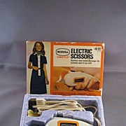 Vintage Scovill Dritz Electric Scissors With Original Box