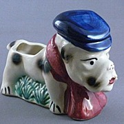 Vintage Porcelain Bull Dog Planter, Japan