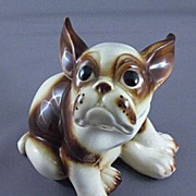 Vintage Ceramic French Bull Dog Figurine, Wales Co. Japan