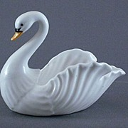 Vintage Bone China Swan Dish