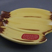 Vintage Cardinal China Co. Pottery Banana Spoon Rest Or Ashtray