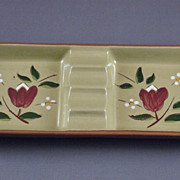 Vintage Stangl Pottery Ashtray Magnolia Pattern
