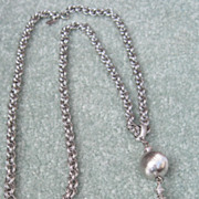 SOLD Monet Silver Tone Metal Necklace - Red Tag Sale Item