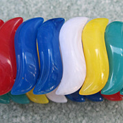 Multi Colored Lucite Stretch Bracelet-Avon