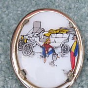 Porcelain Model T Ford Pin