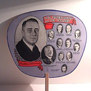 Cardboard Fan of FDR and His First Cabinet