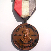 Copper FDR Medal 1933 Inauguration Hangs From a Tri-Color Ribbon Which Hangs From a ...