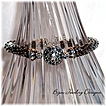 Illusion~  Bali, Swarovski and Delica Bead Crochet Bracelet