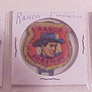 Set of Three Roy Rogers Post Raisin Bran Premium Badges Medals