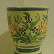 Henriot Quimper Faience Large Pedestal Egg Cup