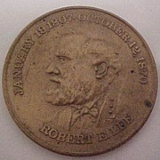 SOLD Vintage Robert E. Lee Bronze Medal Arlington House