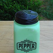 Mckee:  Jadite Big Box Pepper Shaker