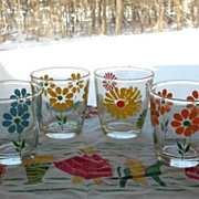 SOLD Hazel Atlas:  Sour Cream Glass -  Daisy