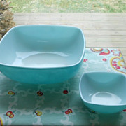 SOLD Pyrex:  Turquoise Chip and Dip