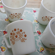 Pyrex: Ginger Summer Impressions Mugs - Set of Four