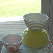 Pyrex: Rainbow Stripes Mixing Bowl Set