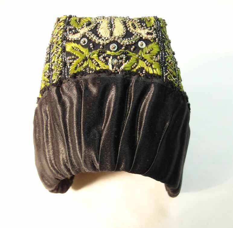 Model or Miniature Bonnet Hand Made and Stitched 19th Century
