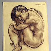 Woman Nude � Pencil Drawing by Alexander Repka Russian Artist Listed