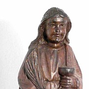 SALE German Hand Carved Wooden Statue ca. 1800 Martyr