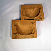 Wooden Butter Mold Lamb Shape