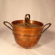 Rare Jelly Copper Mold with Lid about 1870