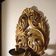 SALE Sconce Hand Carved and Golden Gilded 18C/19C