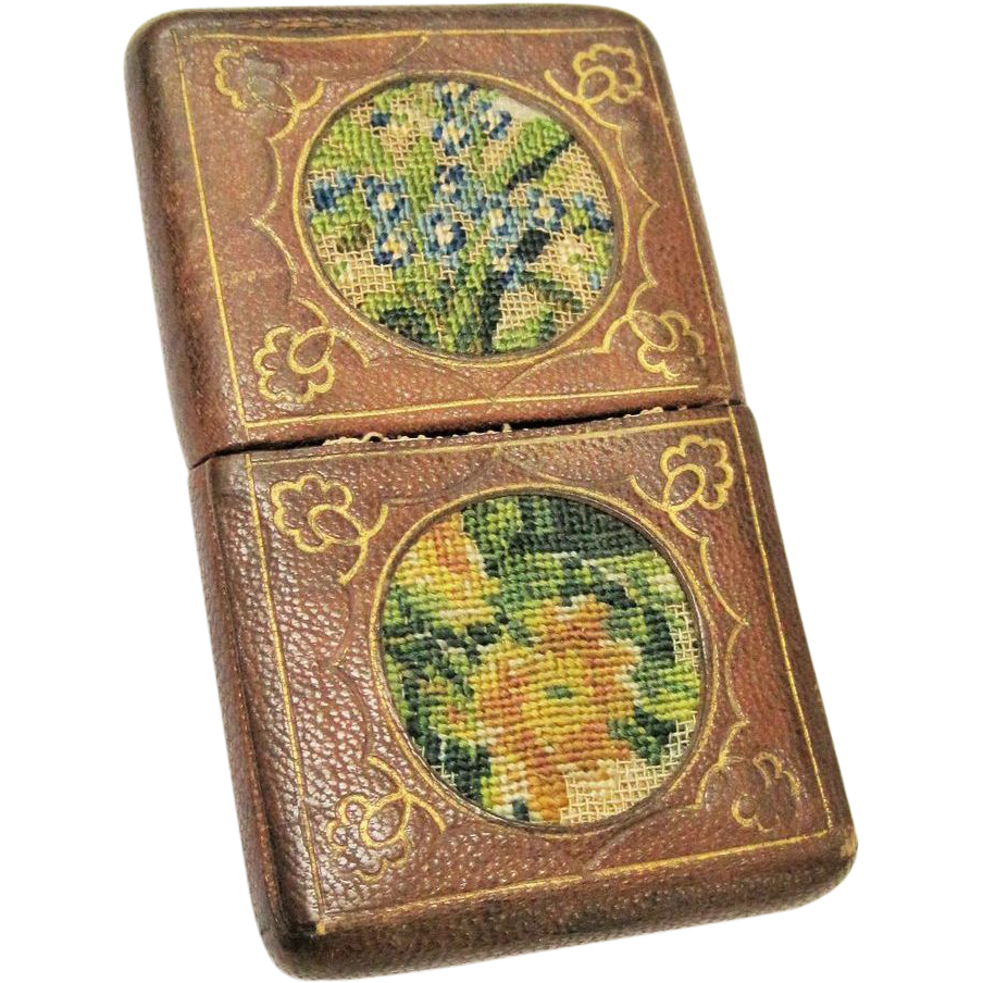 Embroidered Leather Embroidered Leather Card Case
