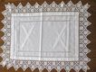 Rare Antique Embroidery, Crochet and Drawnwork Carving Cloth