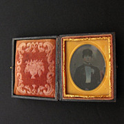 Antique Civil War Era Union Case with Tin Type