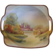 Vintage Handpainted Signed Nippon Porcelain Bisque Bowl