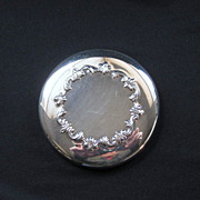 Vintage Signed Reed & Barton Silverplate Hand Mirror
