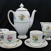 Vintage Royal Doulton Porcelain Espresso Demitasse Coffee Service for Two