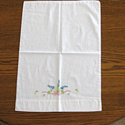 Vintage Floral Embroidery Child Pillowcase
