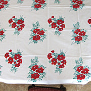 Vintage Floral Wilendur Tablecloth