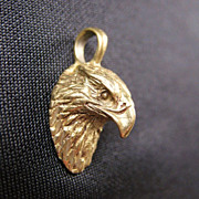 Vintage 10K Gold Eagle Bird Pendant or Charm
