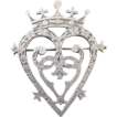 Vintage Signed Sterling Silver Scottish Luckenbooth Wedding Brooch or Pin