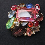 Vintage Juliana Style Multi Color Fruit Salad Brooch or Pin