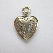Vintage Signed Gold Fill Heart Locket