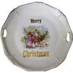 "Antique Porcelain ""Merry Christmas"" Plate"