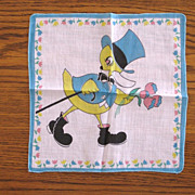 Vintage Children's Duck Handkerchief