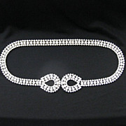 Vintage Clear Crystal Rhinestone Belt