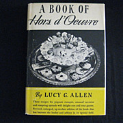 "Vintage Hard Bound Cookbook - ""A Book of Hors d' Oeuvre"""