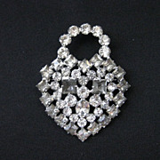 Vintage Signed KRAMER OF NEW YORK Rhinestone Brooch